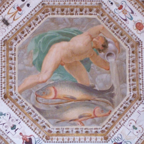 The transition between Pisces and Aquarius (Fresco in Palazzo Chiericati, Vicenza, Italy)