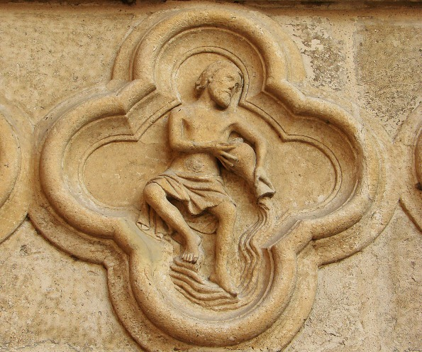 Aquarius sign from the Amiens cathedral, France