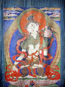 Ancient Nepalese scroll painting of the Buddhist goddess of compassion (photo by Kamal Ratna Tuladhar)