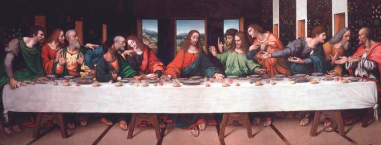 Jesus and his disciples at the Last Supper (Giampietrino's copy after Leonardo's original)