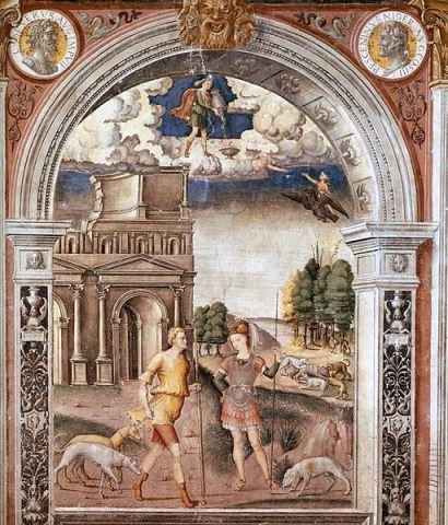 Sign of Aquarius by Falconetto (ca. 1515)