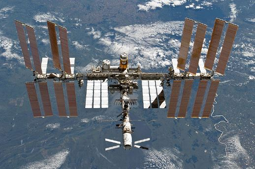 The International Space Station as of March 2011 (photo by NASA)