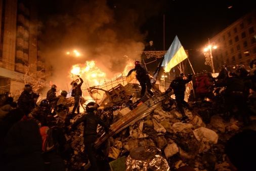 Clashes in Kiev, Ukraine, February 2014 (photo by Mstyslav Chernov)