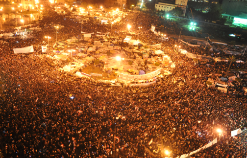 Over 2 millions protesting in Tahrir Square, Cairo, in February 2011, calling to oust president Mubarak (photo by Jonathan Rashad)
