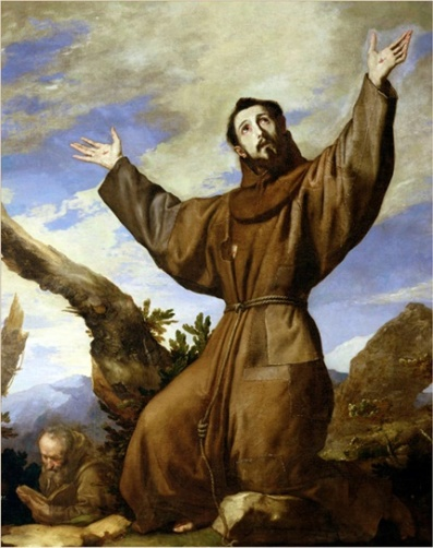 St. Francis of Assisi by Jose de Ribera (circa 1182-1220), Public Domain